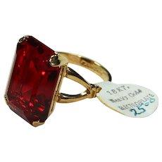 Vintage Red Crystal 18KT Gold Filled