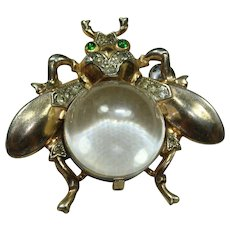 Vintage Sterling Trifari Jelly-Belly Fly Pin