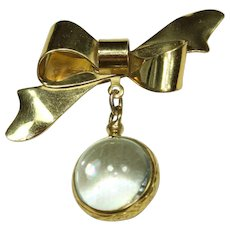 Vintage Jelly-Belly Bow Pin