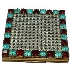 Vintage Crystal Make-Up Compact