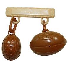 Vintage Plastic Football Pin