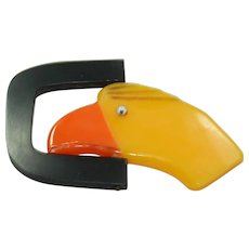 Vintage Plastic Duck Belt-Buckle