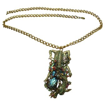 Vintage HAR Dragon Necklace