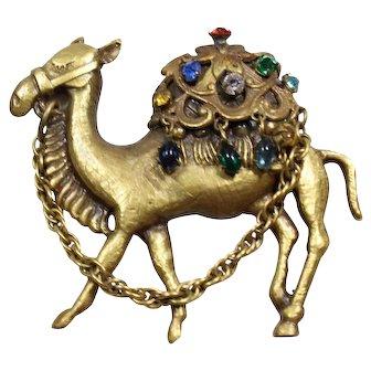 Joseff Book Piece Camel Pin