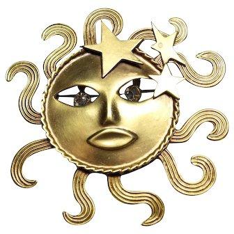 Joseff Sun Face Pin