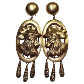 Joseff Rooster Earrings