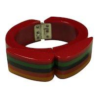 Vintage Galalite Rainbow Bracelet
