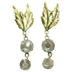 Joseff Crystal Dangle Earrings