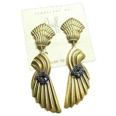 Joseff Art Deco Style Earrings