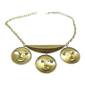 Joseff Moon God Necklace