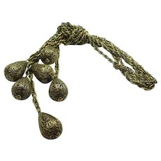 Joseff Rita Hayworth Lavaliere Necklace Set