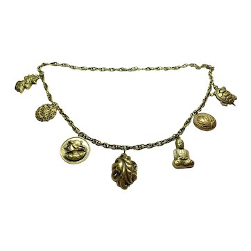 Joseff of Hollywood Long Charm Necklace