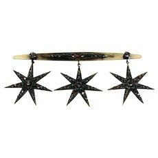 Spectacular Joseff Crystal Star Pin