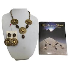 Joseff Book Piece, Beetle Necklace and Earring Set