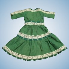Vintage Green Doll Dress