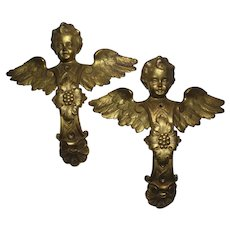 Victorian Wall Décor Angel Pair