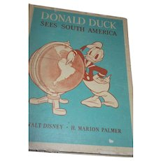 Donald Duck Sees South America Hard Cover 1st Edition