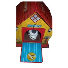 Fido's Musical Dog House Tin Toy!