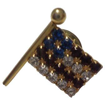 Vintage Unisex Patriotic Flag Accent Pin