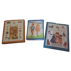 3 Tiny Doll House Decorative Books