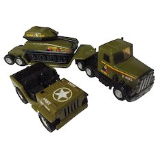 Early 1960's Set of Buddy L Military Steel Vehicles