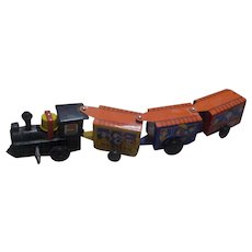 "Vintage 1970's ""Western Express"" Wind-up Tin Train"