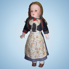 "12"" Armand Marseille AM 450 Antique German Closed Mouth Character Doll"