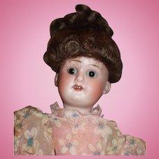 "9""  Schoenau & Hoffmeister German Bisque Head Doll"