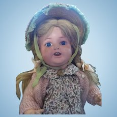 """17"""" Ernst Heubach Character Doll With Open/Closed Mouth"""