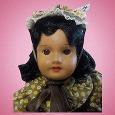 """13"""" SFBJ 301 Mulatto Bisque Fench Doll"""