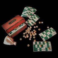 French Miniature Loto Game for French Fashion Doll (circa 1870)