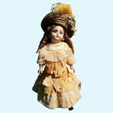 """Fleischmann&Bloedel 18""""Eden Bebe doll (46 cm) with a closed mouth, approximately year 1880 (ALL ORIGINAL!!!)"""