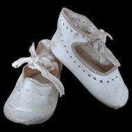 Antique Leather SFBJ Paris Shoes with Silk Ties (Size 8)