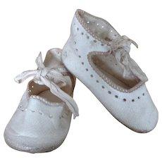 Antique SFBJ Paris Shoes with Silk Ties (Size 8)