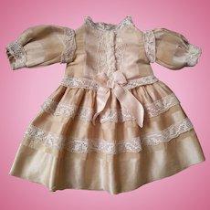 """Antique Doll Dress 11 4/5"""" ( 30 cm)"""