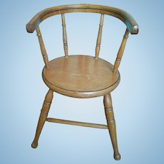 Wooden Chair for an Antique Doll