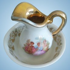 Limoges Antique French Doll Chamber Toilette Set