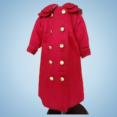Antique Cherry Red Coat end of 19th beginning of 20th century
