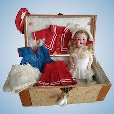 "Toddler German Bisque Head Doll ""Heubach Koppelsdorf 300 14/0"" (ALL ORIGINAL!)"