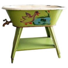 RARE Vintage metal bathtub with water drain