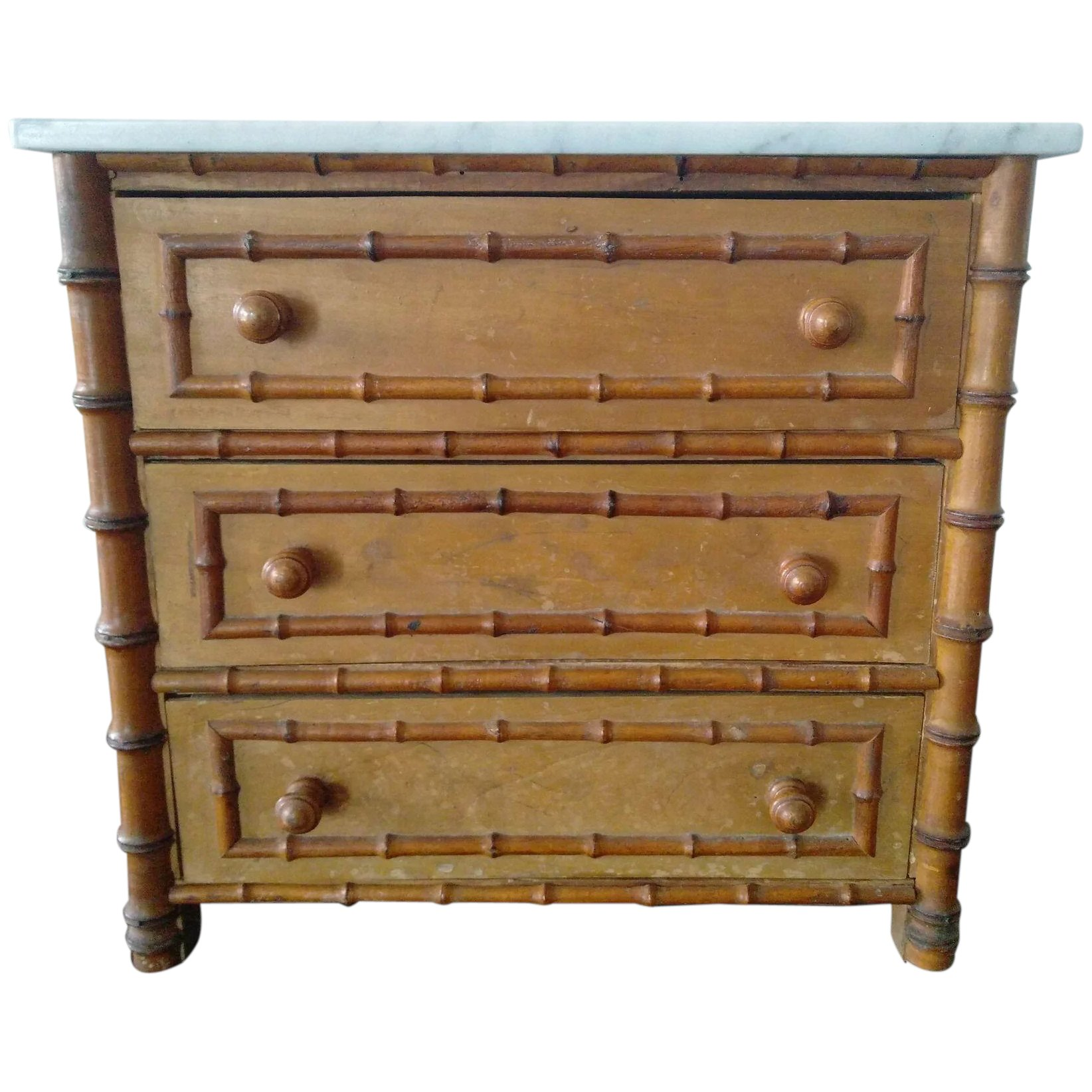 quality design 98d8a 92446 Antique French Faux Bamboo Chest of Drawers (19th Century)