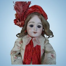 "Rare Eden Bebe Doll, Fleischmann&Bloedel with an open mouth 24"" (61cm), approximately1890"