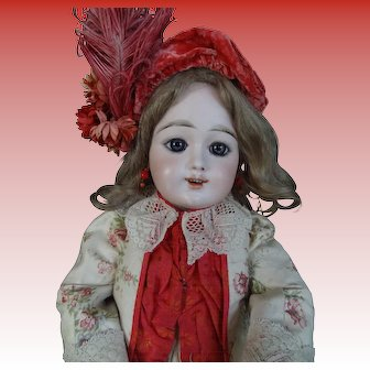 "Reserved by V. Rare Eden Bebe Doll, Fleischmann&Bloedel with an open mouth 24"" (61cm), approximately1890"