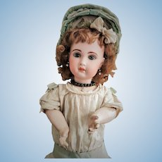 """Antique Jumeau Doll mold 1907 size 10 with Stamped Body """"Medaille d'Or' Paris"""" with Talking Mechanism"""