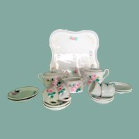 Antique Dessert-Tea-Set for (handpainted, end of 19 century, 16 pieces)