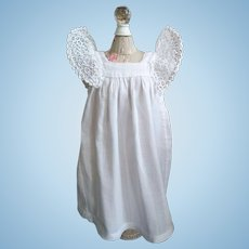 Sweet Antique Cotton Doll Pinafore with Amazing Sleeves