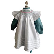 Vintage Dress and Pinafore for a Large Doll