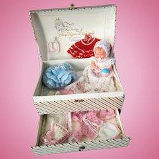 VERY RARE, Museum Mint Quality Rheinische Celluloid Toddler/Baby in Original Box