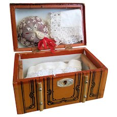 Lovely Petite Old Doll Trunk (circa 1920-1930)