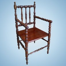 "Wonderful 14"" Antique French Wooden Chair"